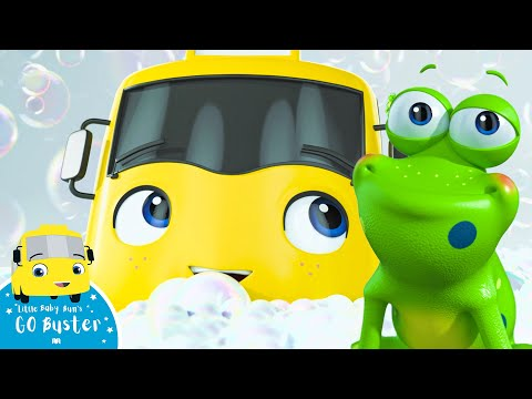 Buster's Bubble Bath | Go Buster | +More Nursery Rhymes and Baby Songs | Little Baby Bum