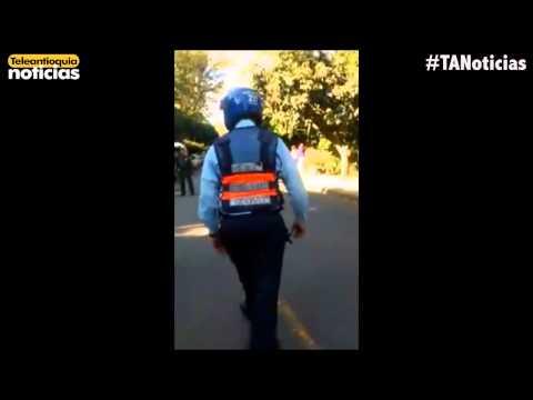 Polémica por video de captura de guardas de tránsito