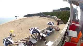 St Ives - Ayr Camping - Porthgwidden Cafe - Porthmeor Beach