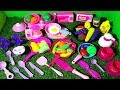 PRETEND PINK KITCHEN PLAYSET WITH MINI APPLIANCES ,TEA SET AND FOOD FOR KIDS