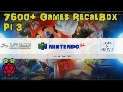 32GB RECALBOX Retro Gaming IMAGE 7,500+ GAMES & KODI