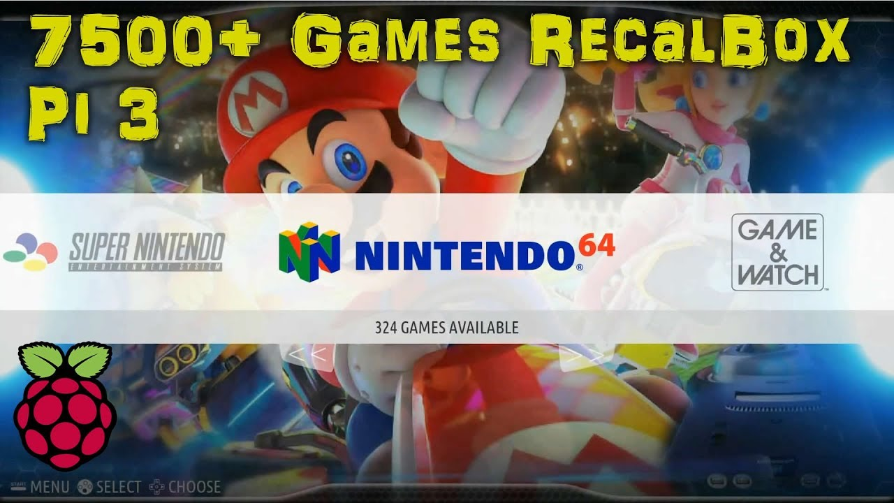 32GB RECALBOX Retro Gaming IMAGE 7,500+ GAMES & KODI - Arcade Punks