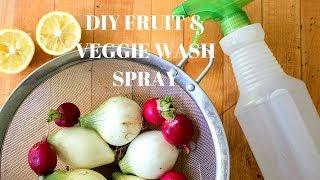 Homemade Fruit & Veggie Wash. Go Natural!!!