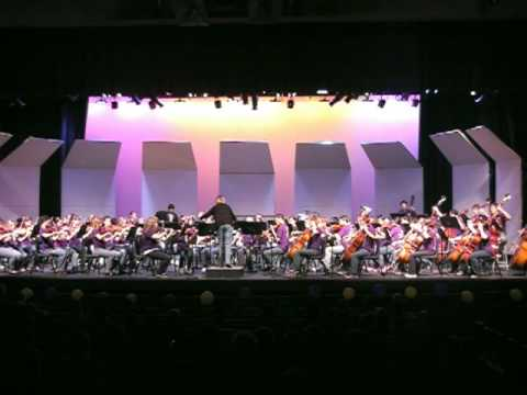 Mesa High School (Mesa, AZ) Full Orchestra & Symphonic Strings 2010 Concert Disney Medley