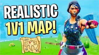 The Most Realistic 1v1 Map! (Fortnite Season X)
