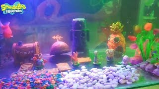 Spongebob aquarium decor set mainan bikini bottom - kids tank fish aquarium - rumah aquarium anak