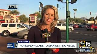 A man dies after being pushed by his friend into traffic in phoenix