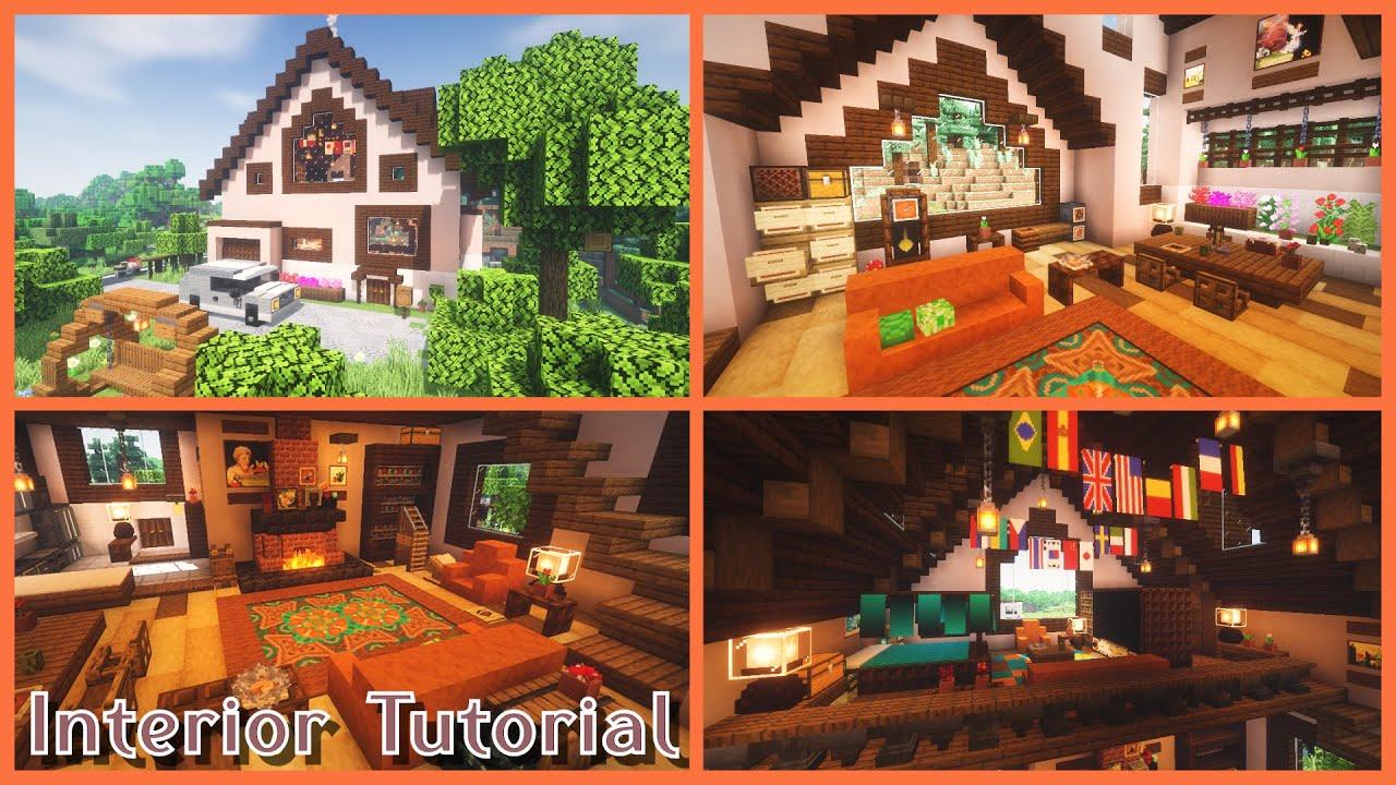 [마인크래프트 건축] 아늑한 집-2/Minecraft Cozy House Interior