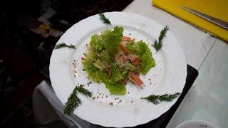 Фунчоза. Готовим быстро. Теплый салат с овощами