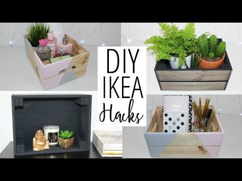 DIY Ikea And Pinterest Inspired Hacks - Crate Storage Ideas | Ep 4