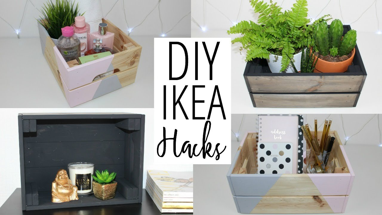 Diy Ikea And Pinterest Inspired Hacks Crate Storage Ideas Ep 4