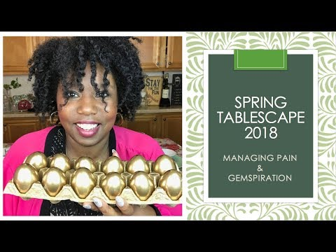 THRIFTED SPRING | EASTER TABLESCAPE 2018 | Managing the Pain GEMSPIRATION