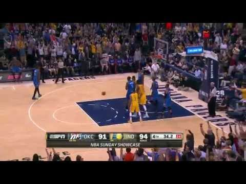 Oklahoma City Thunder vs Indiana Pacers | April 13, 2014 | NBA 2013-14 Season