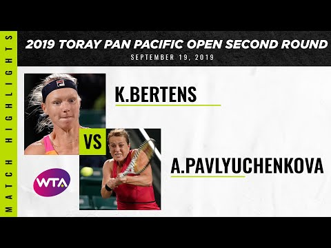 Kiki Bertens vs. Anastasia Pavlyuchenkova | 2019 Osaka Second Round | WTA Highlights