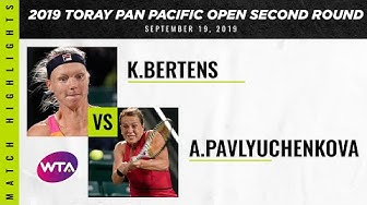 Kiki Bertens vs. Anastasia Pavlyuchenkova | 2019 Osaka Second Round | WTA Highlights
