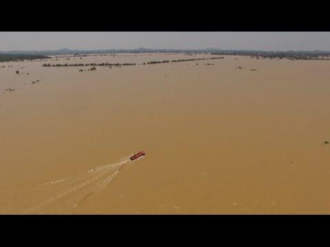 Massive Flood Swamps Village in Jiangxi