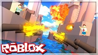 Roblox Adventures - DENIS VS. CORL BATTLESHIP WAR! (Roblox Battleship War)