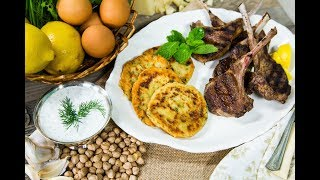 Debbie Matenopoulos' Pan-Grilled Lamb Chops with Chickpea Fritters