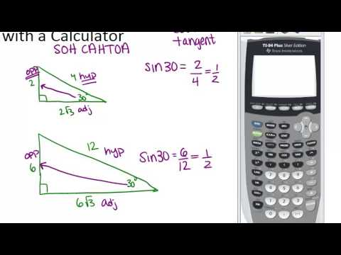 Trigonometric Ratios With A Calculator Lesson Geometry Concepts