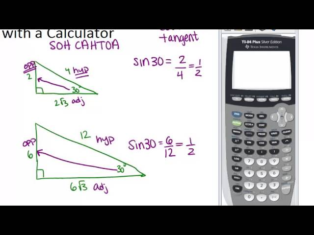 Trigonometric Ratios With A Calculator Lesson Geometry Concepts Youtube