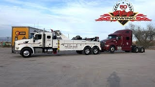 Unlocking An Abandoned Semi And Towing  T Away For CHP