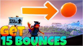 GET 15 BOUNCES WITH THE BOUNCY BALL | Season 7 Week 5 Challenges | Fortnite Battle Royale