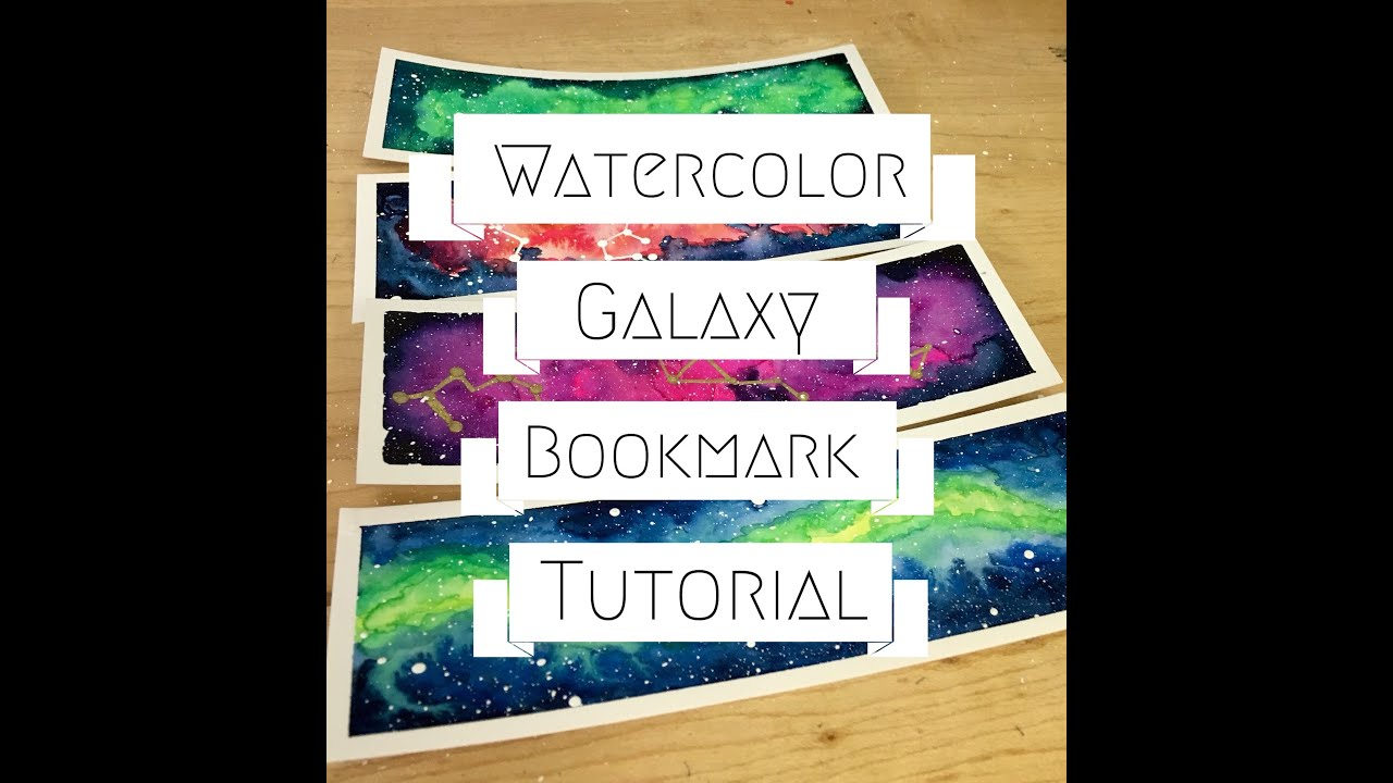 Watercolor bookmarks - Watercolor Galaxy Bookmark Tutorial