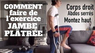 Exercices à faire avec la jambe dans le plâtre