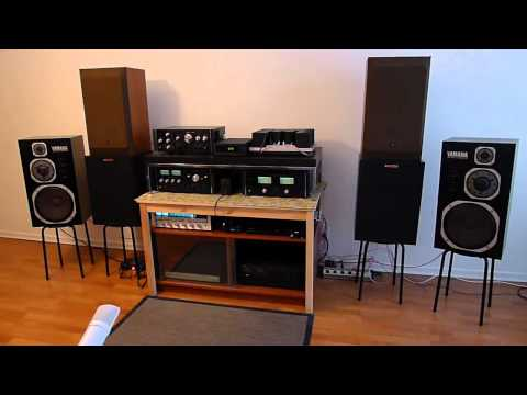 Vintage Stereo Sound System & Five Classic Rock Song Intros