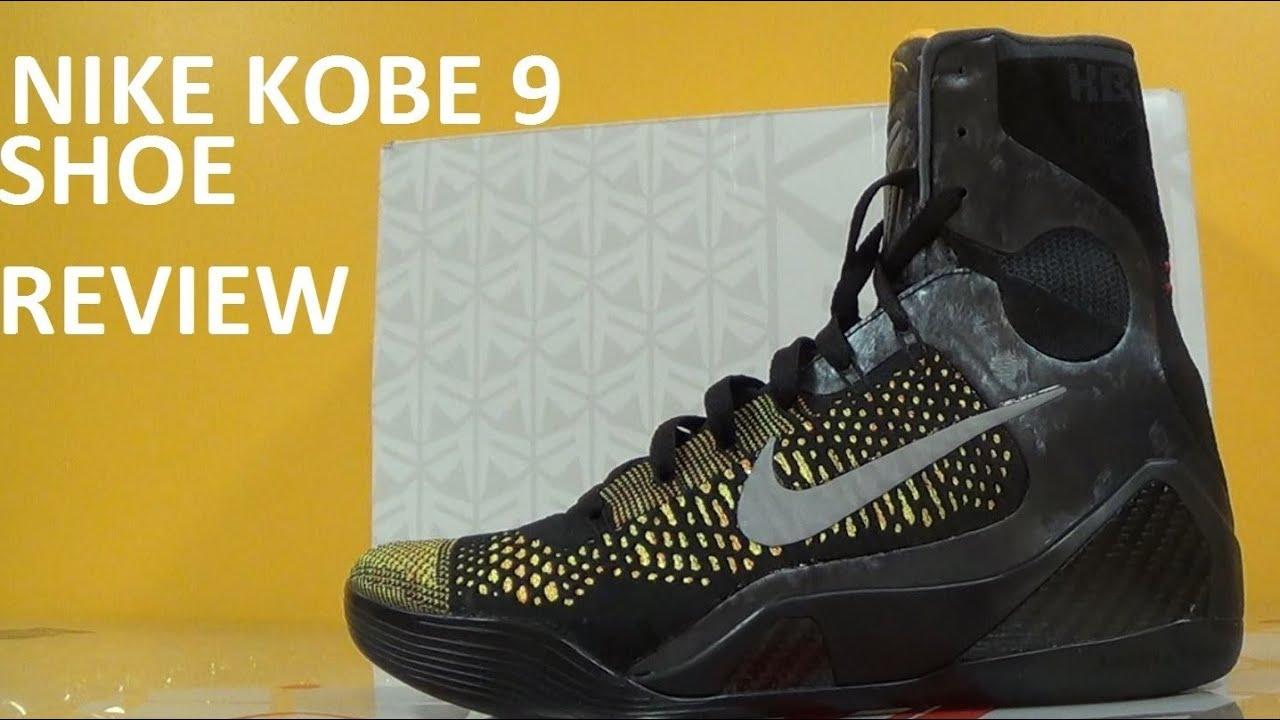 a4d62a18e6e Nike Kobe 9 Elite Inspiration Masterpiece IX Basketball Shoe Detailed  Review With Dj Delz