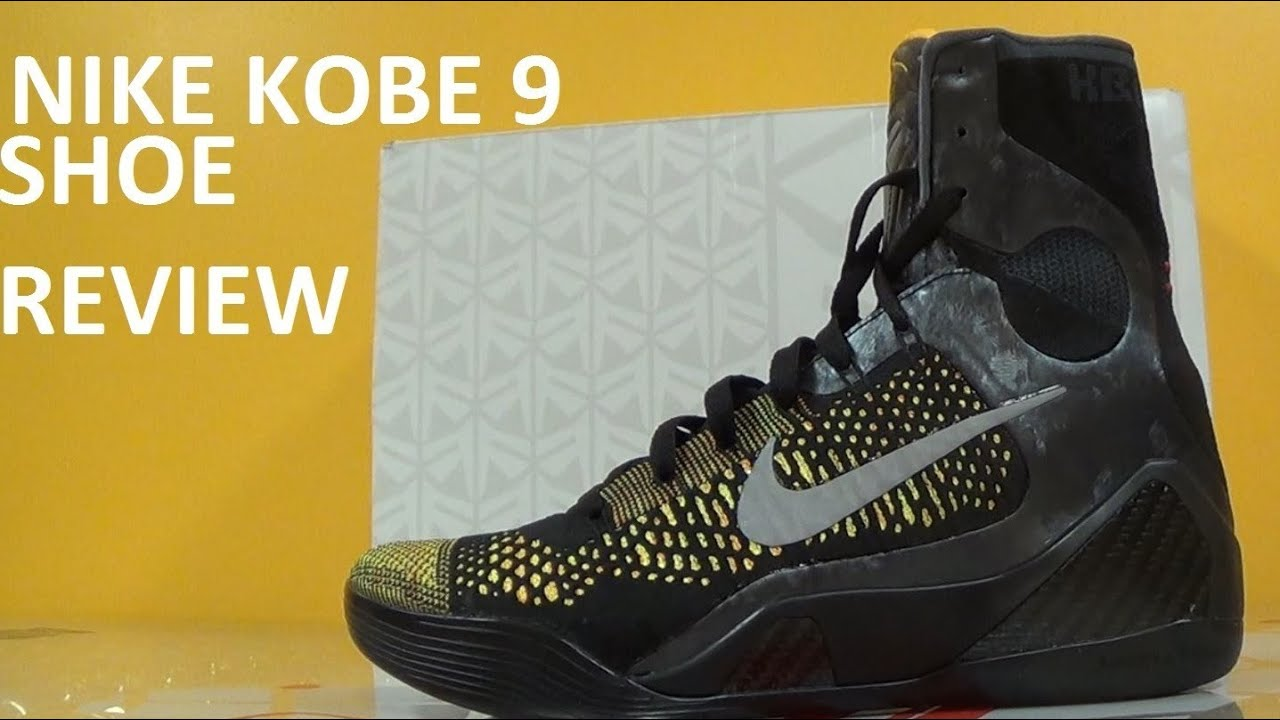 brand new efac8 844d6 Nike Kobe 9 Elite Inspiration Masterpiece IX Basketball Shoe Detailed  Review With Dj Delz
