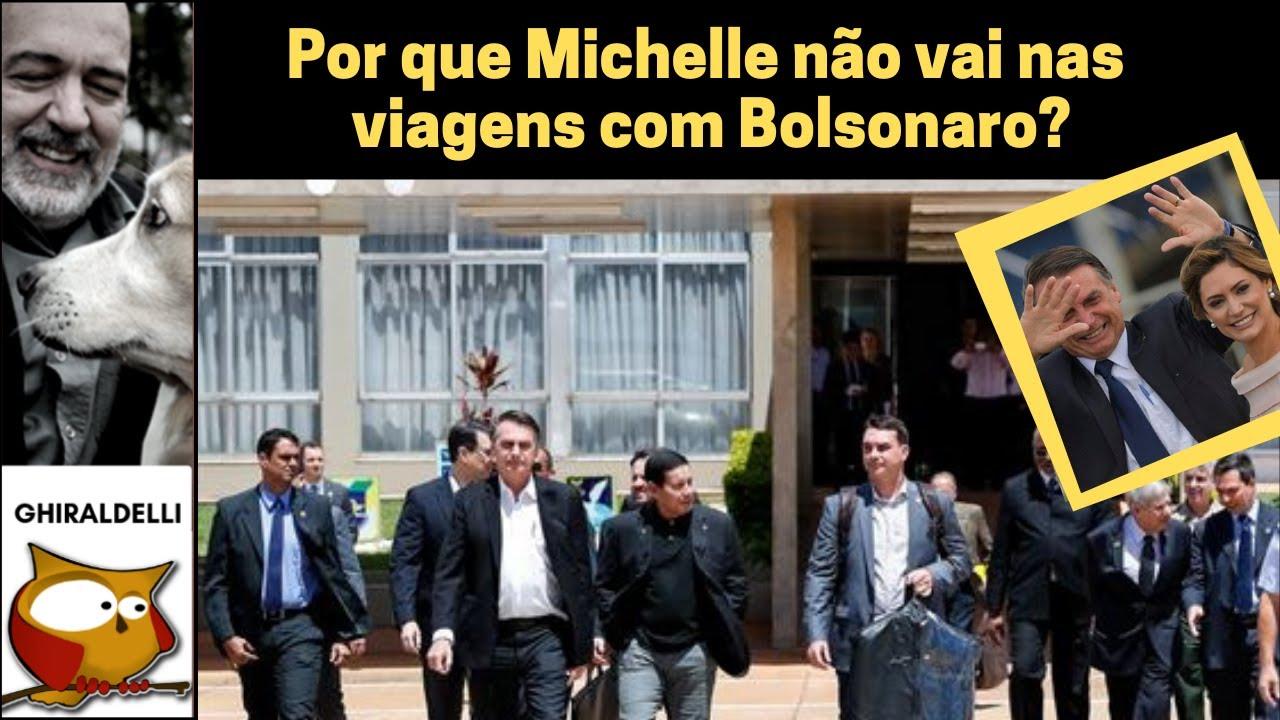 Por que Michelle não vai nas viagens com Bolsonaro?