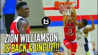 Zion Williamson UNCUT: Full Game Footage of his Return from Injury!!