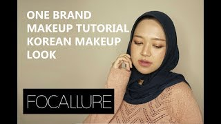 FOCALLURE ONE BRAND MAKEUP TUTORIAL - KOREAN LOOK