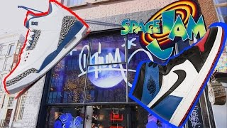 OQIUM HEATERS  black friday JORDAN 1 TOP THREE PREVIEW, SPACE JAM COLLECTION. TRUE BLUE PICKUP