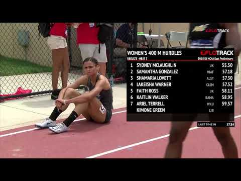 Sydney McLaughlin Scary Moment In NCAA 400H