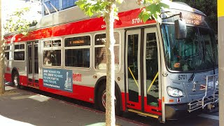 SF Muni 2017 New Flyer XT40 57…