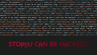 Hacking facebook by copy pasting some html scripts is not a good idea!!!