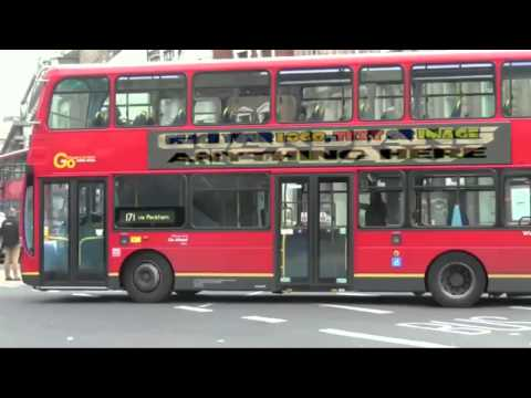 Place anything on a London Route master Bus Billboard