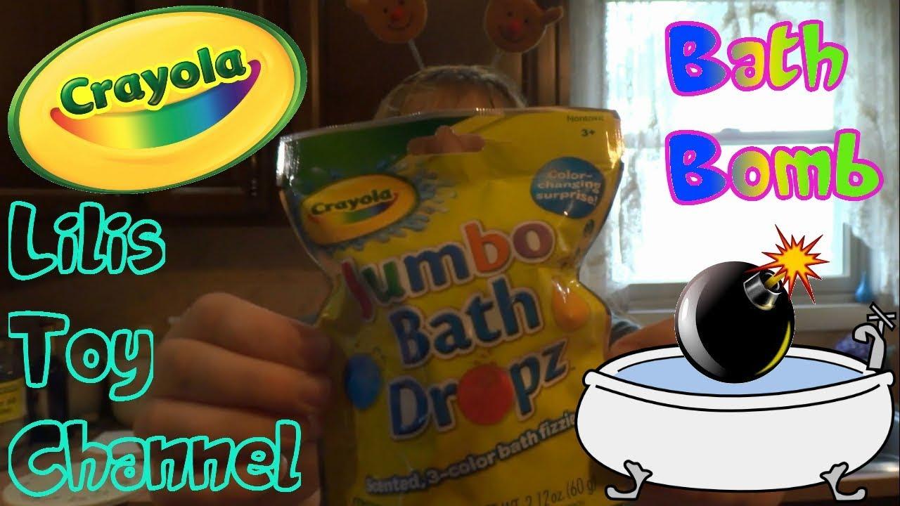Crayola Jumbo Bath Dropz - Bath Bomb Fun - Five Below - YouTube