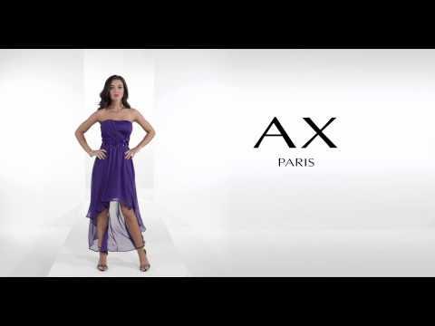 24studio - Strapless Drop Back Jewel Dress By AX Paris
