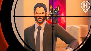 NIE schießen John Wicks DOG! in Fortnite! (Ein Kurzfilm) Fortnite *Saison 9* John Wick Skin / Emote