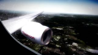 [FSX] Thomson 757-200 Landing at Oslo Gardermoen