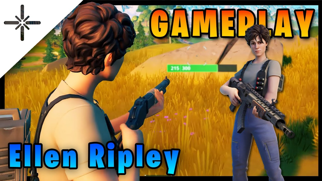 "ELLEN RIPLEY Alien Skin Gameplay in Fortnite with ""Burst Case Scenario"" Emote and more!"