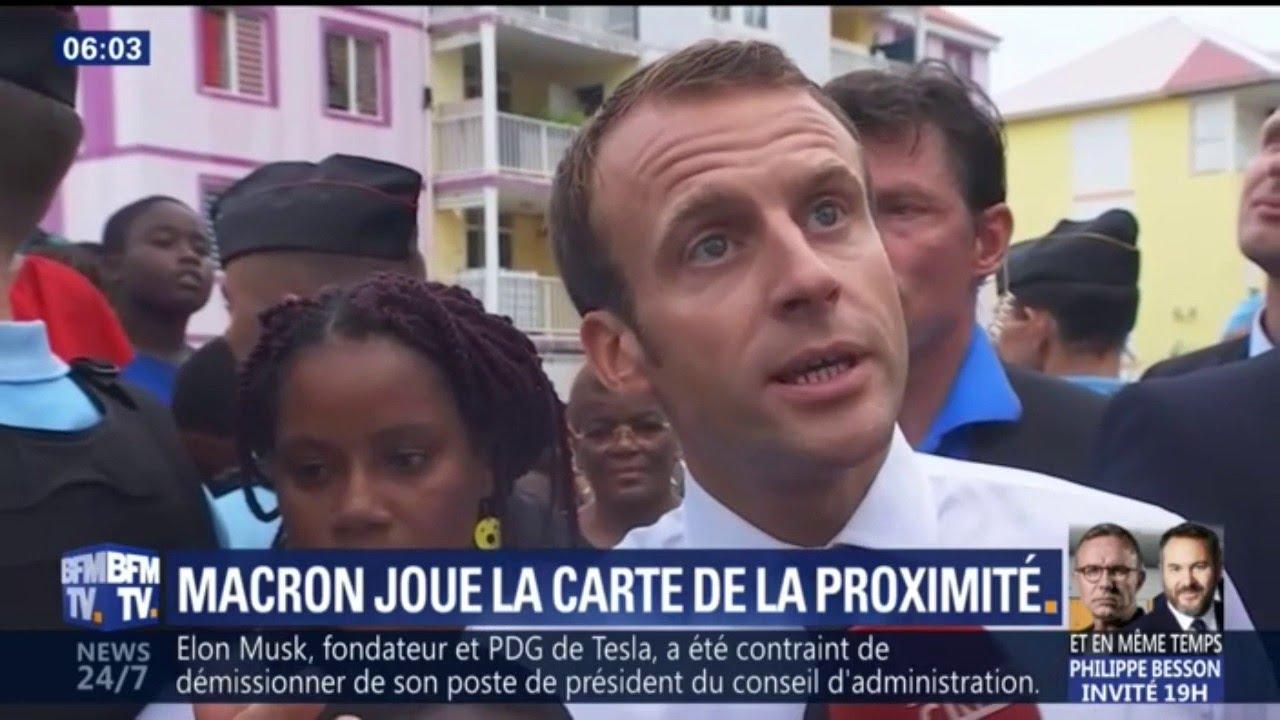 Emmanuel Macron joue la carte de la proximité
