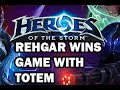 Rehgar wins Game with Totem: Heroes of the Storm
