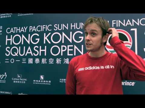 SQUASH : James Willstrop QF Post-Game Interview, Hong Kong 2013
