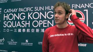 SQUASH : James Willstrop QF Post-Game Interview, Hong Kong 2013