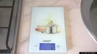 Кухонные бытовые весы SCARLETT SC-1217 ( обзор )