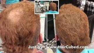 Just Try HairCubed® Patent 100% Satisfaction Guaranteed! Solution for Fine or Thinning Hair